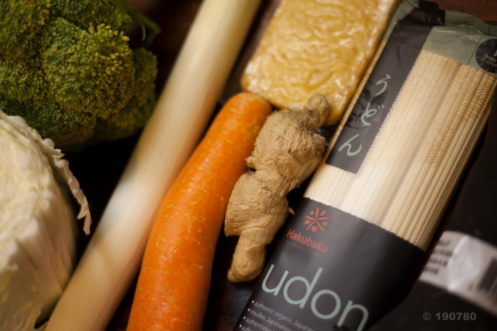 pâtes udon aux légumes