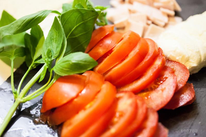 Fougasse tomates et mozzarella