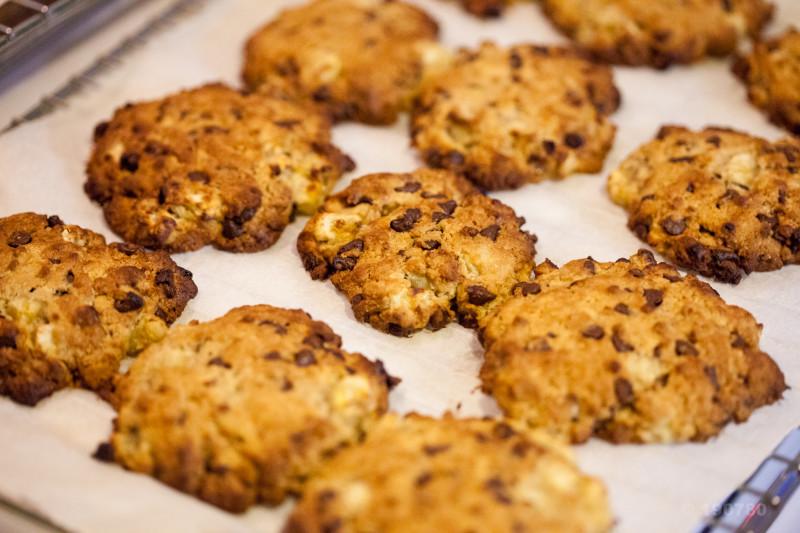 Cookies banane chocolat noir