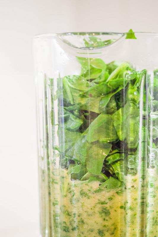 Green smoothie aux épinards