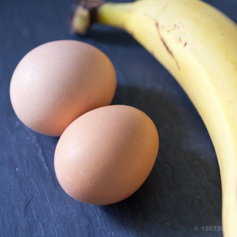 Pancakes oeufs-banane