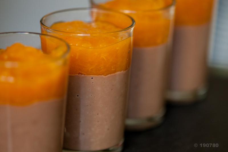 Panna cotta abricots chocolat