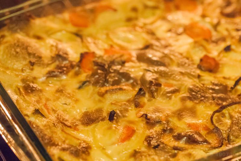 gratin de panais et carottes