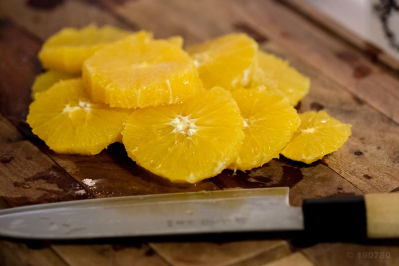 carpaccio d'oranges à la grenade et quatre épices