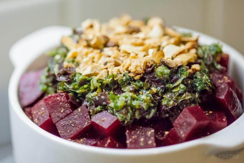 betterave rouge tartare algues