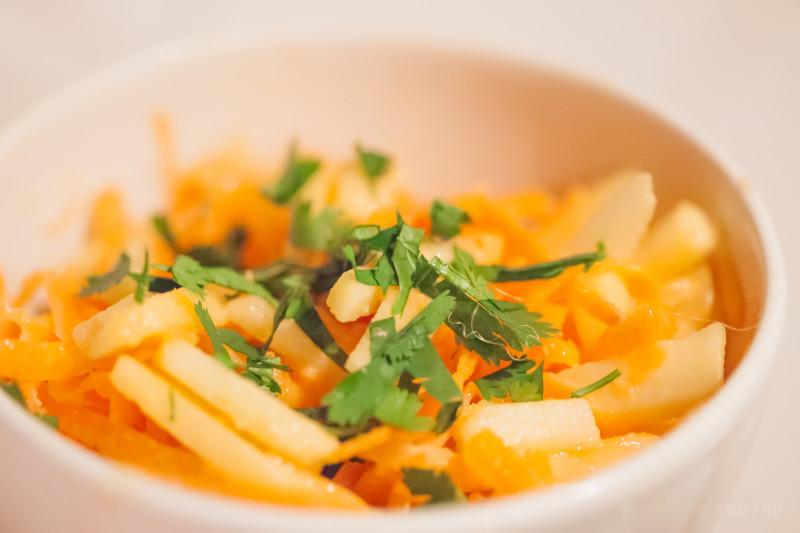 coleslaw pommes carottes
