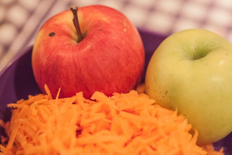 coleslaw pommes carottes preparation