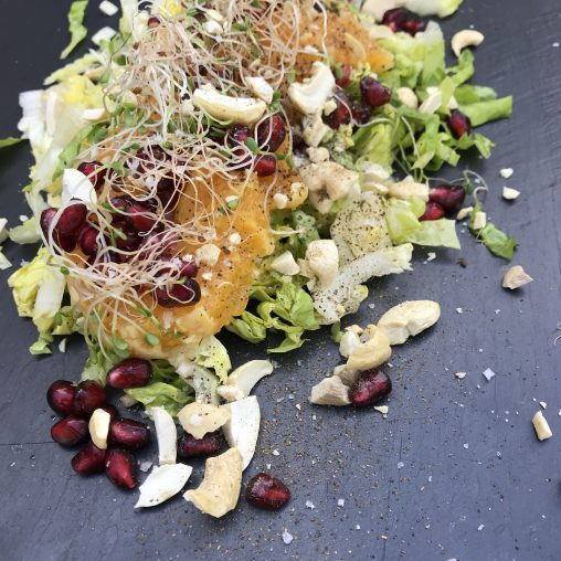 salade sucrine grenade orange